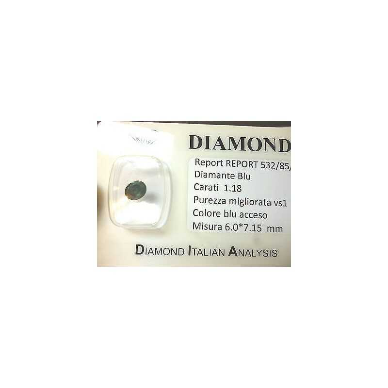 DIAMANTE OVALE BLU EXTRA COLOR 1.18 CARATI LOTTO 0.20 0.50 0.75 1.0