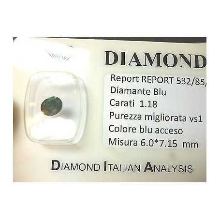 DIAMOND OVAL BLUE EXTRA COLOR 1.18 CT LOTTO 0.20 0.50 0.75 1.0