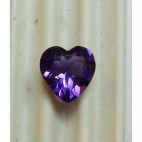 AMETHYST CUT HEART WEIGHT OF 1.60 CT MEASUREMENTS 8X8 MM