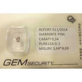 DIAMANT ROSE DE 0.34 CARATS LOT 0.50 0.75 1.0
