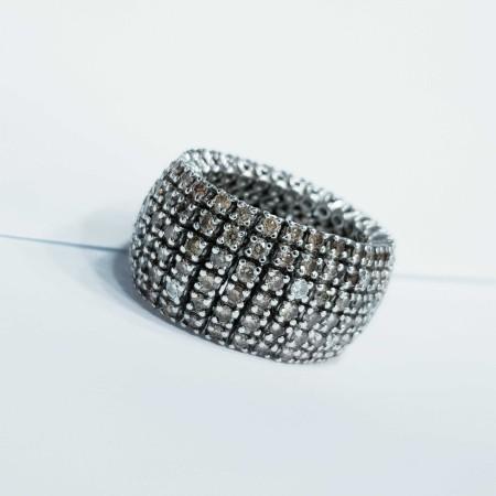 VERETTA round eternity Diamonds Brown 4.50 Ct purity VS
