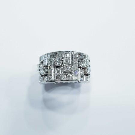 RING DIAMOND 2.50 CARATS COLOR F VVS CLARITY VS GOLD 18 KT LOTTO 1,00 1,50