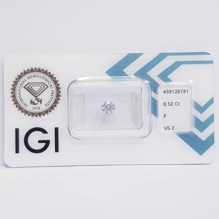 Diamant certifié IGI 0.50 F VS2-REP. 459126781 lot 0.50