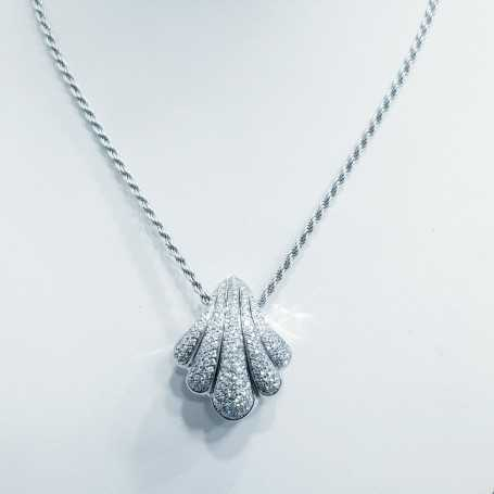 DAMIANI necklace in 18kt gold and certified diamonds-length 45cm