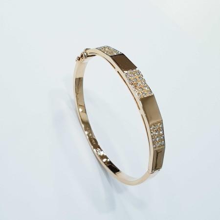 Bracciale ANSUINI in Oro Giallo 18kt e Diamanti Certificati