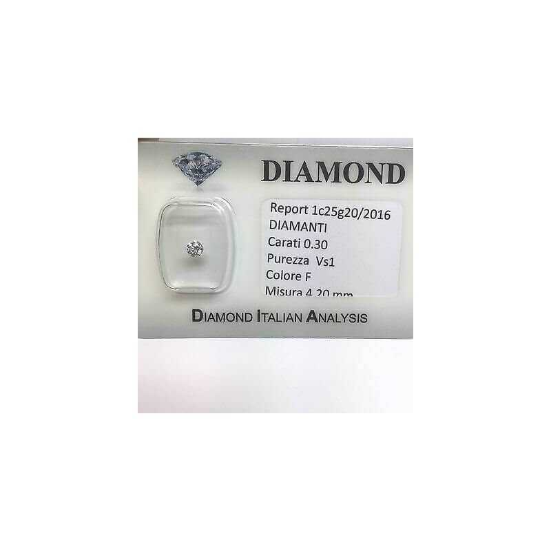 DIAMOND POINT LIGHT 0.30 F color vs1 blister