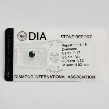 0.47 VS1 DIA certified Blue Diamond in Blister-REP2111118