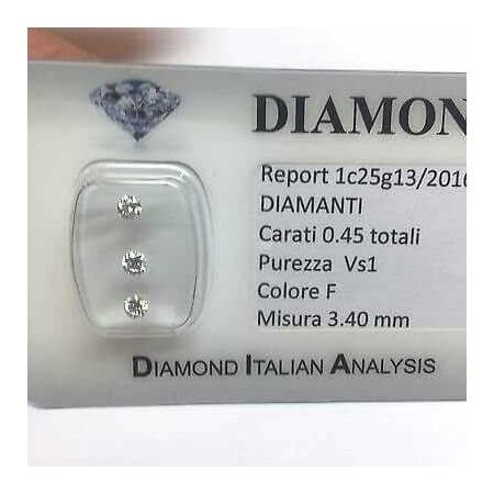 DIAMOND trilogy 0.45 F color vs1 blister lotto 0.50 1.00 0.70