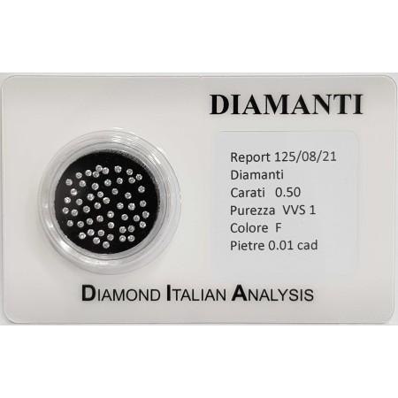 BLISTER diamonds 0.50 ct total-lot 0.01 ct