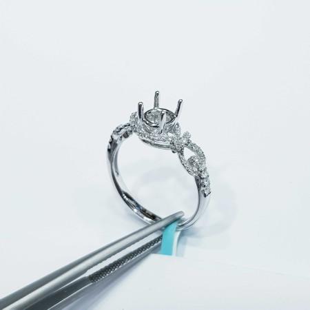 Customizable diamond white gold ring - (MC050) China manufacturer)