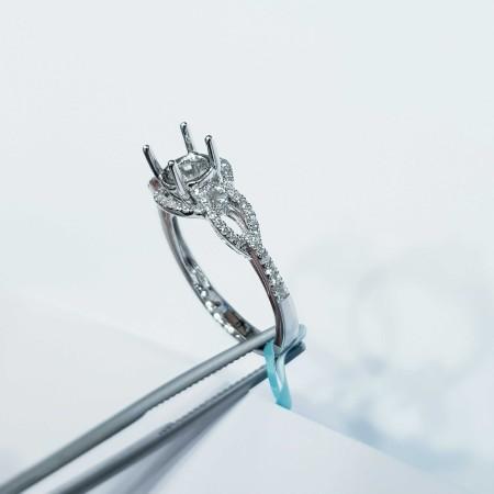 Customizable diamond white gold ring - (MD050) China manufacturer)