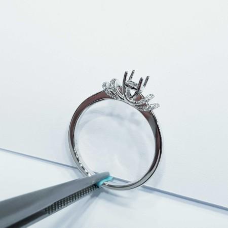 Customizable diamond white gold ring - (MA025) China manufacturer)