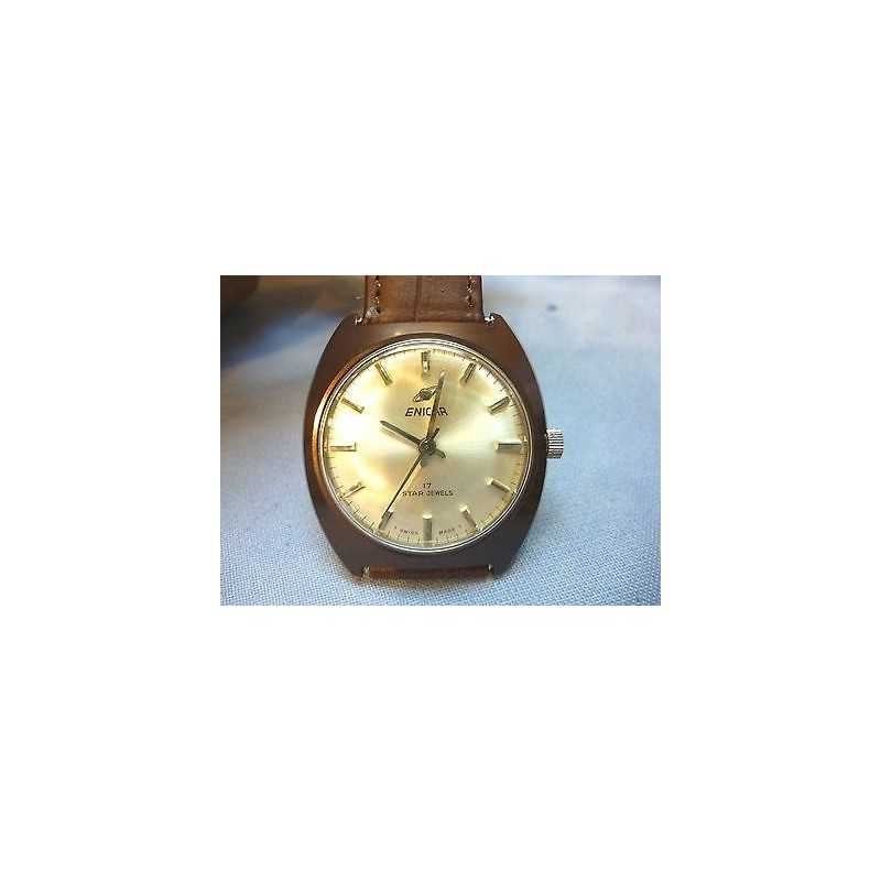 ENICAR PERFECT CONDITION, IMPOSSIBLE TO FIND PVD BROWN BACKGROUND STOCK