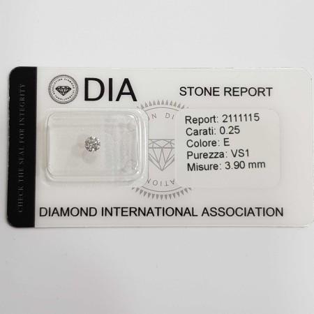 0.25 E VS1 DIA certified diamond in Blister-REP2111115