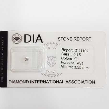 0.15 G VS1 DIA certified diamond in Blister-REP2111107