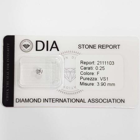0.25 F VS1 DIA certified diamond in Blister-REP2111103
