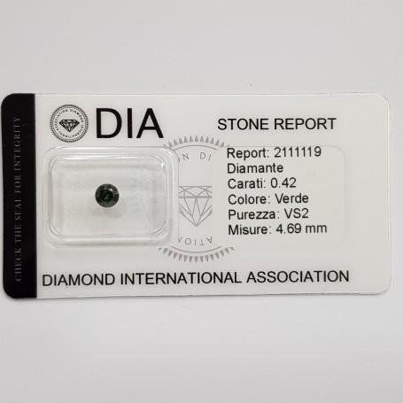 0.42 VS1 DIA Certified Green Diamond in Blister-REP2111119