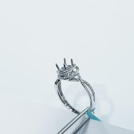 Customizable diamond white gold ring - (ME050) China manufacturer)
