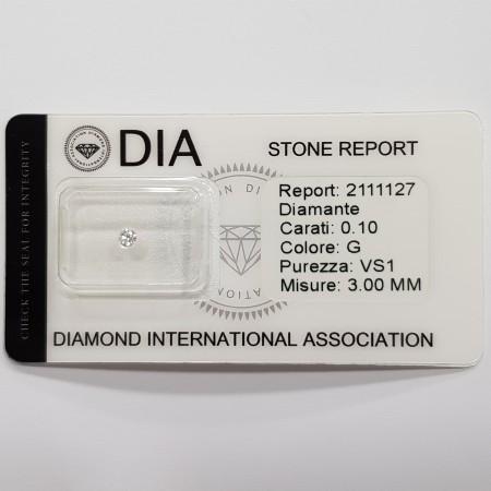 0.10 G VS1 DIA certified diamond in Blister-REP2111127