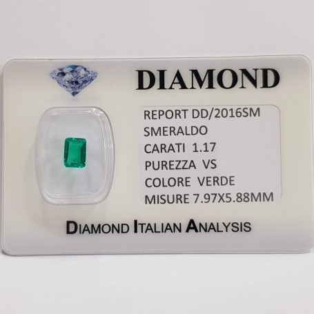 Emerald Emerald 1.17 carats vs certified in BLISTER