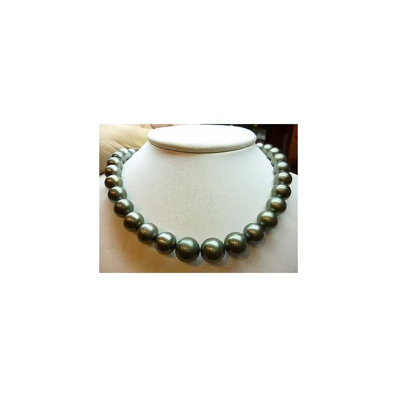 NECKLACE with PEARLS TAHITI 11/14 mm CARAT 17.50 grams AAA MAD ROD CERTIFICATE