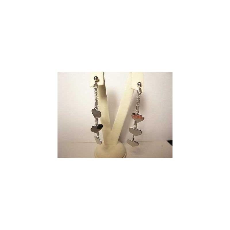 BOUCLES d'oreilles COEURS ARGENTRO OR BLANC de la saint-VALENTIN NOËL PÂQUES