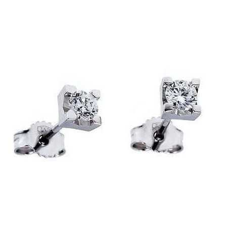 EARRINGS DIAMOND 0.10 CARATS OF VVS1 F COLOR LOT