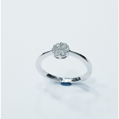 18kt white gold ring with natural diamonds - (MAGIC)