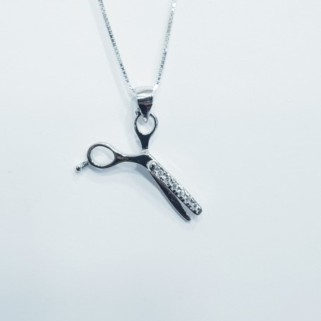 SCISSOR PENDANT SILVER RHODIUM PLATED WHITE GOLD HIGH MANUFACTORY CHINA MANUFACTURER