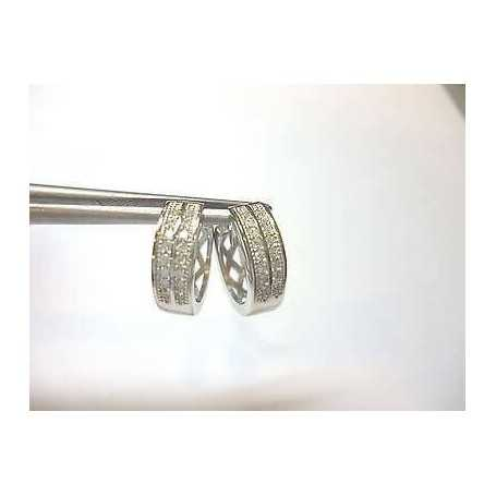DIAMOND EARRINGS CUBIC ZIRCONIA ULTIMIRIMASTI SILVER RHODIUM-PLATED WHITE GOLD