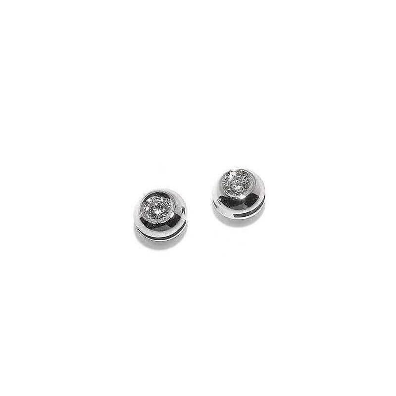 BOUCLES d'oreilles de DIAMANTS 0.08 CARAT VVS F COULEUR ORO 18 KT beaucoup 0,10