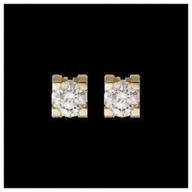 DIAMOND EARRINGS of 1.00 carat yellow or white gold choice of the frame