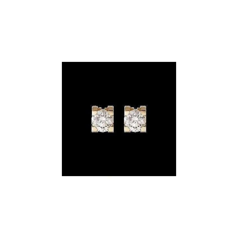 BOUCLES d'oreilles en DIAMANT de 1.00 carat or blanc ou jaune au choix de l'image