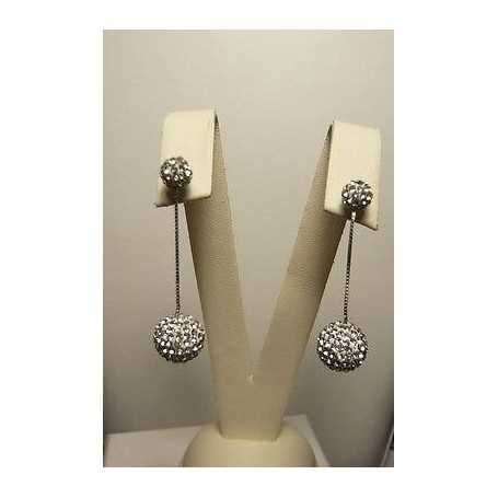 EARRINGS GOLD 18 K ZIRCONS AS DIAMONDS, THE LAST REMAINING GR. 4 THE END OF THE SERIES