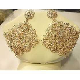 EARRINGS STROILI SILVER 925 PITRE RHINESTONES LIKE DIAMONDS