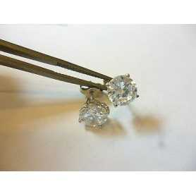 EARRINGS CUBIC ZIRCONIA RUSSIAN 0,20 CARAT TOTAL SILVER