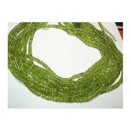 PERIDOT THREAD CUTTING WASHER 4.00 mm WEIGHT: 54.00 CARATS ALONG 42 TOP QUALITY