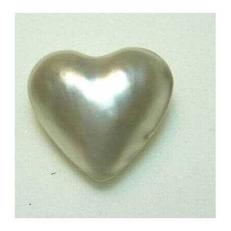 PEARL HEART 12.00 CAR MEASURING 20x20 mm