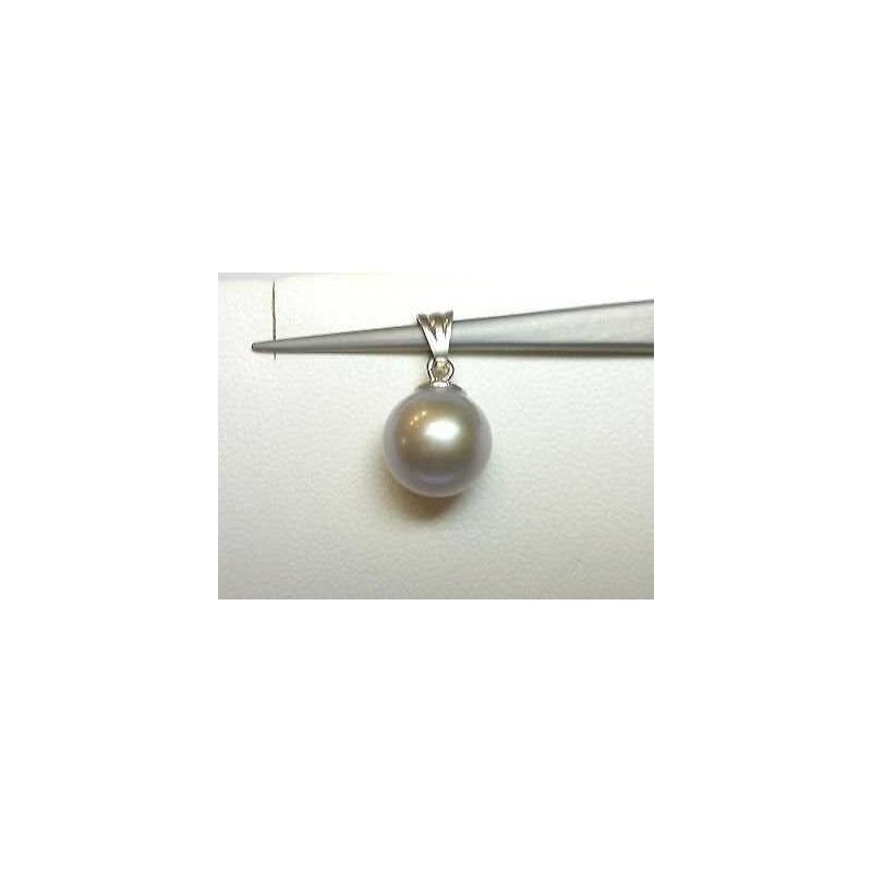PERLES de TAHITI PENDENTIF 10 mm 1,70 grammes d'OR 18 carats AAA+