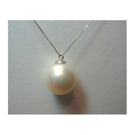 AKOYA PEARLS 10.00 mm PENDANT 18-CARAT WHITE GOLD OR 750