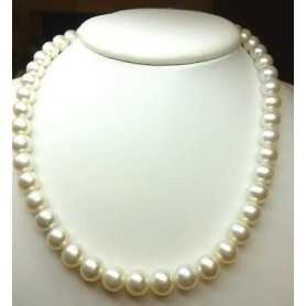 AKOYA PEARLS 10 QUALITY AAA + PLATINUM, MOUNTED, GOLD 18 K WITH KNOTS