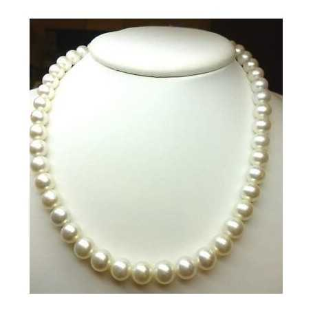 AKOYA PEARLS 10 QUALITY AAA + PLATINUM MOUNTED 18K GOLD WITH KNOTS