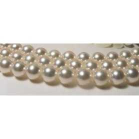 AKOYA PEARLS 7.5 - 8.0 DIAMETER THE BETTER OF THE SEA, MOUNTED IN 18 K GOLD