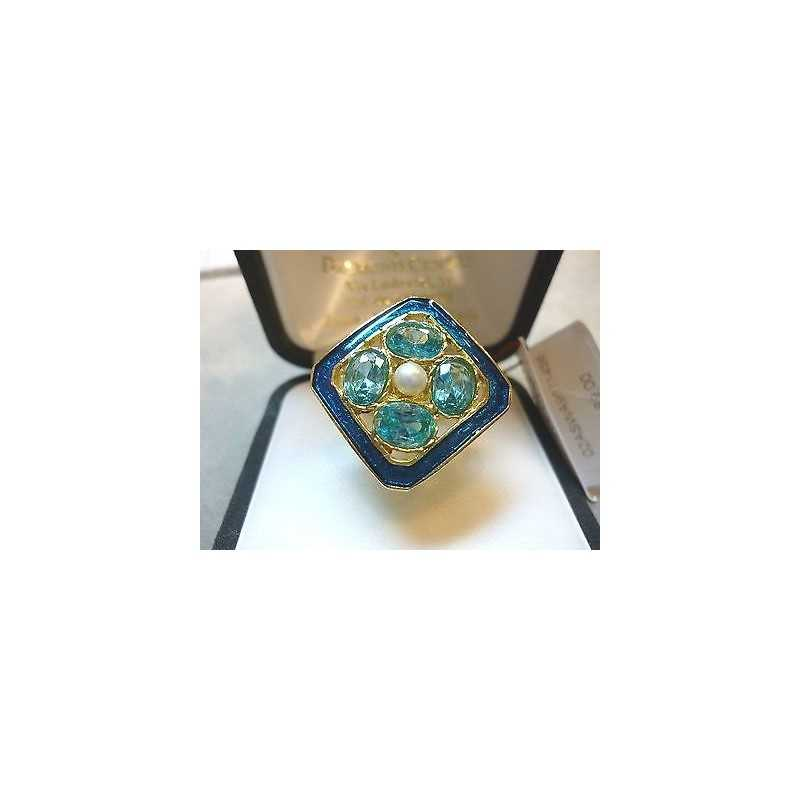 SILVER RING FILIGREE BLUE QUARTZ PEARL CENTRAL THE LAST FEW REMAINING