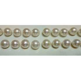 AKOYA PEARLS PAIR OF PLATINUM 4 AAAA PERFECT RARE 7.0 CARATS AND MEASURING 7.5 8