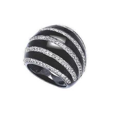ANELLO ARGENTO RODIATO 925 RODIATO ORO ZIRCONE COME DIAMANTE