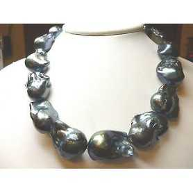 PEARLS JAPAN BIWA BLACK GIANT FROM 19 TO 24 800 CARATS UNICHEEEEEEEEEE