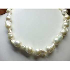 PEARLS JAPAN BIWA SCARAMAZZE BAROQUE 12 13 MM-CARAT GOLD OFF 60 %