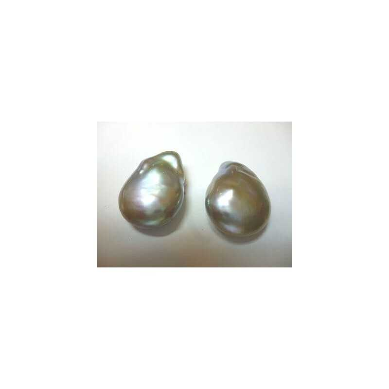 PEARL GRAY DROP OR PEAR TAHITI 23 mm WEIGHT 39 CARATS
