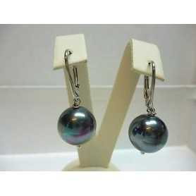 PEARLS BLACK MOTHER OF PEARL, AN AUSTRALIAN WITH A DIAMETER OF 12 MOUNTED SILVER GR. 7.50